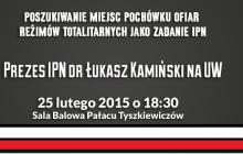 Spotkanie z Łukaszem Kamińskim na UW. Upominamy się o Was!